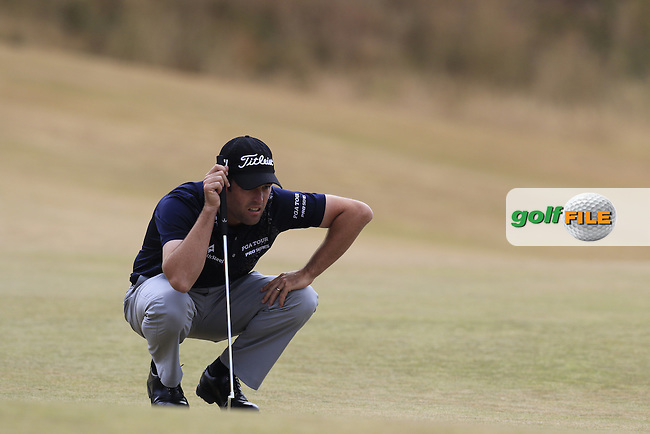 Robert Streb (USA) on the 1st green during Thursday's Round 1 of the 2015 U.S. Open 115th National Championship held at Chambers Bay, Seattle, Washington, USA. 6/18/2015.<br /> Picture: Golffile | Eoin Clarke<br /> <br /> <br /> <br /> <br /> All photo usage must carry mandatory copyright credit (&copy; Golffile | Eoin Clarke)