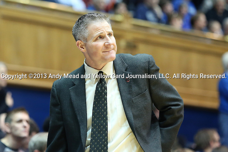 27 January 2013: Boston College head coach Erik Johnson. The Duke University Blue Devils played the Boston College Eagles at Cameron Indoor Stadium in Durham, North Carolina in an NCAA Division I Women's Basketball game. Duke won the game 80-56.