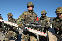 - Eurocorps, European multinational army corps, German and French soldiers....- Eurocorps, corpo militare multinazionale europeo, militari tedeschi e francesi
