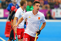 England's Phil Roper during the Hockey World League Semi-Final match between England and Netherlands at the Olympic Park, London, England on 24 June 2017. Photo by Steve McCarthy.