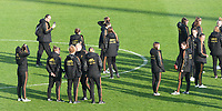 20190304 - LARNACA , CYPRUS :  Belgian team pictured during the pitch recognition of a women's soccer game between Nigeria and the Belgian Red Flames , on Monday 4 th March 2019 at the GSZ Stadium in Larnaca , Cyprus . This is the third and last game in group C for both teams during the Cyprus Womens Cup 2019 , a prestigious women soccer tournament as a preparation on the Uefa Women's Euro 2021 qualification duels. PHOTO SPORTPIX.BE | DAVID CATRY