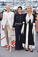 """CANNES, FRANCE - MAY 15: Tilda Swinton, Selena Gomez, Chloe Sevigny at photocall for """"The Dead Don't Die"""" during the 72nd annual Cannes Film Festival on May 15, 2019 in Cannes, France. <br /> CAP/PL<br /> ©Phil Loftus/Capital Pictures"""