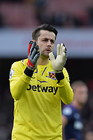 Lukasz Fabianski of West Ham United At the Final Whistle Applause Fan's during Arsenal vs West Ham United, Premier League Football at the Emirates Stadium on 7th March 2020