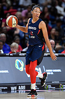 Washington, DC - July 30, 2019: Washington Mystics forward Aerial Powers (23) brings the ball up court during game between the Phoenix Mercury and the Washington Mystics at the Entertainment & Sports Arena in Washington, DC. The Mystics defeated the Mercury 99-93. (Photo by Phil Peters/Media Images International)