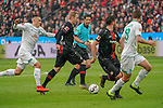 17.03.2019, BayArena, Leverkusen, GER, 1. FBL, Bayer 04 Leverkusen vs. SV Werder Bremen,<br />  <br /> DFL regulations prohibit any use of photographs as image sequences and/or quasi-video<br /> <br /> im Bild / picture shows: <br /> Julian Brandt (Leverkusen #10), im Zweikampf gegen  Maximilian Eggestein (Werder Bremen #35), <br /> <br /> Foto © nordphoto / Meuter