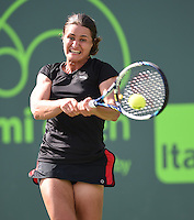 KEY BISCAYNE, FL - MARCH 28: Serena Williams of the United States defeats Monica Niculescu of Romania in their second round match during the Miami Open Presented by Itau at Crandon Park Tennis Center on March 28, 2015 in Key Biscayne, Florida.<br /> <br /> <br /> People:  Monica Niculescu<br /> <br /> Transmission Ref:  FLXX<br /> <br /> Must call if interested<br /> Michael Storms<br /> Storms Media Group Inc.<br /> 305-632-3400 - Cell<br /> 305-513-5783 - Fax<br /> MikeStorm@aol.com