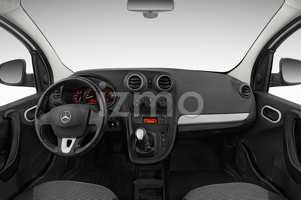 Stock photo of straight dashboard view of 2019 Mercedes Benz Citan Perfect-Tool 5 Door Car Van Dashboard