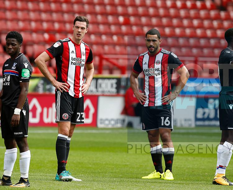 Ben Heneghan of Sheffield Utd and Cameron Carter-Vickers of Sheffield Utd during the Professional Development U23 match at Bramall Lane, Sheffield. Picture date 4th September 2017. Picture credit should read: Simon Bellis/Sportimage