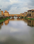 Ponte Vecchio is one of Florence's most famous images. Over the centuries, the bridge has survived floods and the havoc of war and strife. The present bridge was built in 1345. The name Ponte Vecchio means Old Bridge.<br />