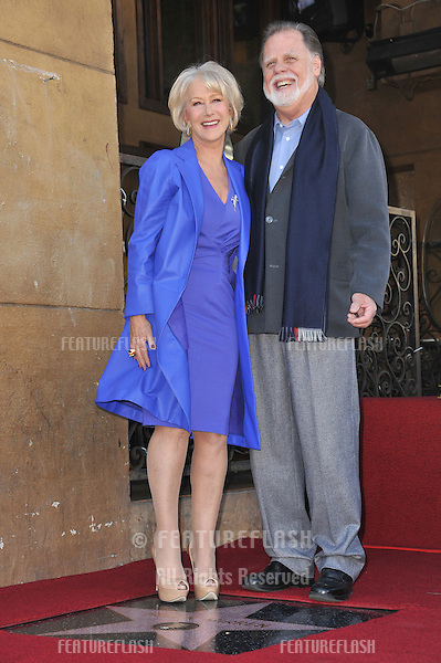 Dame Helen Mirren & husband Taylor Hackford on Hollywood Boulevard where she was honored with the 2,488th star on the Hollywood Walk of Fame..January 3, 2013  Los Angeles, CA.Picture: Paul Smith / Featureflash