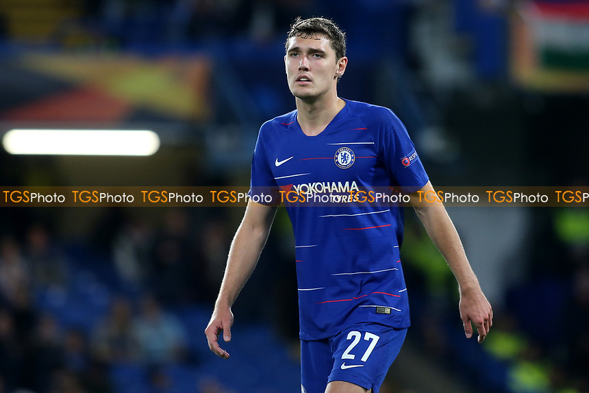 Andreas Christensen of Chelsea during Chelsea vs MOL Vidi, UEFA Europa League Football at Stamford Bridge on 4th October 2018
