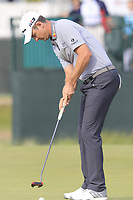 Justin Rose (ENG) putts on the 8th green during Friday's Round 2 of the 118th U.S. Open Championship 2018, held at Shinnecock Hills Club, Southampton, New Jersey, USA. 15th June 2018.<br /> Picture: Eoin Clarke | Golffile<br /> <br /> <br /> All photos usage must carry mandatory copyright credit (&copy; Golffile | Eoin Clarke)