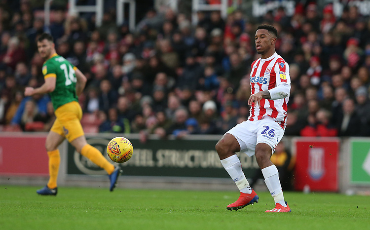 Stoke City's Tyrese Campbell<br /> <br /> Photographer Stephen White/CameraSport<br /> <br /> The EFL Sky Bet Championship - Stoke City v Preston North End - Saturday 26th January 2019 - bet365 Stadium - Stoke-on-Trent<br /> <br /> World Copyright © 2019 CameraSport. All rights reserved. 43 Linden Ave. Countesthorpe. Leicester. England. LE8 5PG - Tel: +44 (0) 116 277 4147 - admin@camerasport.com - www.camerasport.com