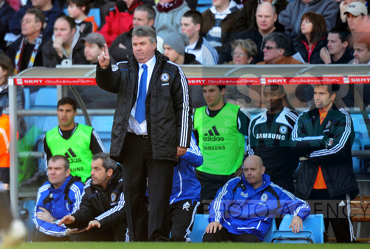 Guus Hiddink Chelsea manager issues instructions