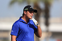 Callum Shinkwin (ENG) on the 3rd tee during Round 4 of the Omega Dubai Desert Classic, Emirates Golf Club, Dubai,  United Arab Emirates. 27/01/2019<br /> Picture: Golffile | Thos Caffrey<br /> <br /> <br /> All photo usage must carry mandatory copyright credit (&copy; Golffile | Thos Caffrey)