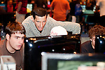 August 27, 2010. Raleigh, North Carolina.. Faces of amateur Halo 3 players as they compete. This is a coach who helps the players with an overall stragedy for the game's attacks.. Major League Gaming (MLG), the league for professional videogame players, held their 50th Pro Circuit competition at the Raleigh Convention Center, with gamers from all over the country coming to for 3 days of competition in Halo 3, Tekken 6, Super Smash Bros. Brawl, Starcraft 2 and World of Warcraft.