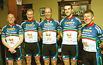 Mayo Centra An Post Ras 2012,.JJ Flaherty, Padraig Marrey, Donal Harrington, Michael Flanaghan and Michael Brady...Pic Conor McKeown
