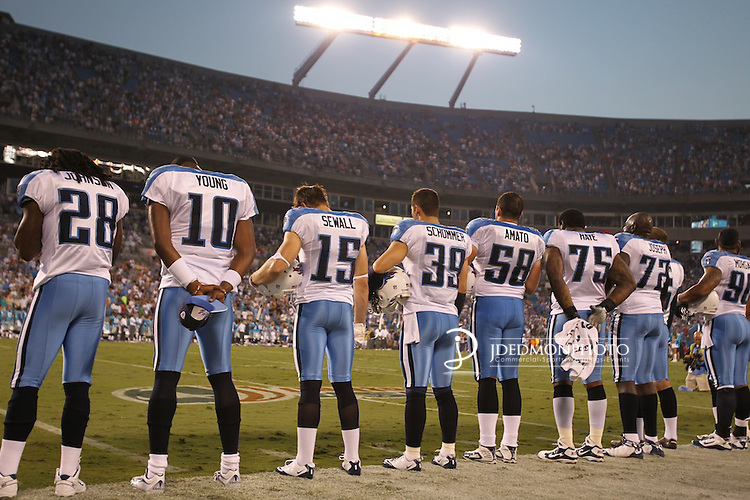 August 28, 2010; xxx at Bank of America Stadium in Charlotte,NC. .Jim Dedmon/CSM