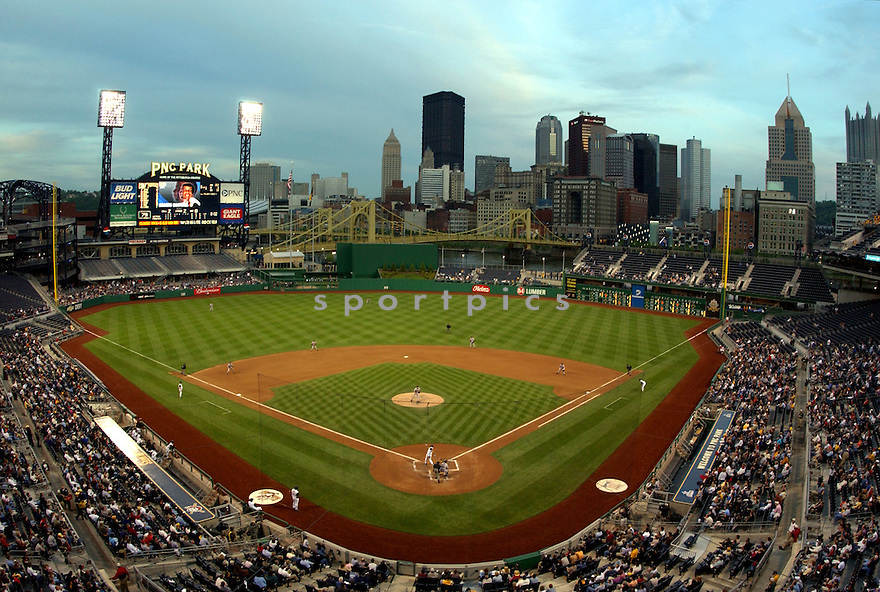 An overall view of PNC in Pittsburgh, during a game between the Pittsburgh Pirates and the Houston Astros on May 14, 2003. (AP Photo/Chris Bernacchi)