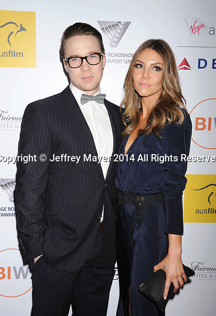 SANTA MONICA, CA- OCTOBER 26: Actor Andrew Ryan (L) and Rebecca Murphy attend the 3rd Annual Australians in Film Awards Benefit Gala at the Fairmont Miramar Hotel on October 26, 2014 in Santa Monica, California.