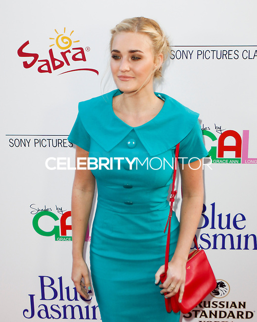 BEVERLY HILLS, CA - JULY 24: AJ Michalka attends the premiere of 'Blue Jasmine' hosted by the AFI & Sony Picture Classics at the AMPAS Samuel Goldwyn Theater on July 24, 2013 in Beverly Hills, California. (Photo by Celebrity Monitor)