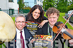 Launching the Killarney Music Pub tour in Killarney  (providing people with music who arrive for the early bird menu's which will run throughout the summer in pubs in Killarney) on Thursday was l-r: Declan Murphy Failte Ireland, Nikki Roberts and Brendan O'Sullivan ..Contact Nikki 0876129517....