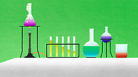 Different chemicals in lab