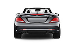 Straight rear view of 2017 Mercedes Benz SLC-Roadster AMG-SLC43 2 Door Convertible Rear View  stock images