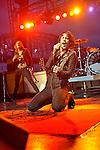 Eric Sean Nally of Foxy Shazam performs at the Bunbury Music Festival in Cincinnati, Ohio.