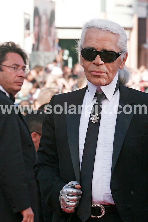 """**ALL ROUND PICTURES FROM SOLARPIX.COM**.**WORLDWIDE SYNDICATION RIGHTS**.Guest arrivals for the Palme d""""Or,Palais des Festivals,Cannes Film Festival in France..This pic:Karl Lagerfeld.JOB REF: 4008         JWC        DATE: 27.5.07.**MUST CREDIT SOLARPIX.COM OR DOUBLE FEE WILL BE CHARGED* *UNDER NO CIRCUMSTANCES IS THIS IMAGE TO BE REPRODUCED FOR ANY ONLINE EDITION WITHOUT PRIOR PERMISSION*"""