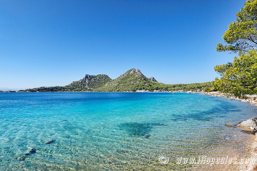 Vouliagmeni lake in Perachora, Greece