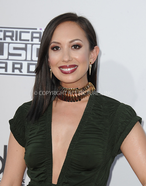 WWW.ACEPIXS.COM<br /> <br /> November 22 2015, LA<br /> <br /> Cheryl Burke arriving at the 2015 American Music Awards at the Microsoft Theater on November 22, 2015 in Los Angeles, California.<br /> <br /> By Line: Peter West/ACE Pictures<br /> <br /> <br /> ACE Pictures, Inc.<br /> tel: 646 769 0430<br /> Email: info@acepixs.com<br /> www.acepixs.com