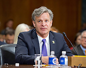Christopher A. Wray testifies on his nomination to be Director of the Federal Bureau of Investigation (FBI) before the United States Senate Committee on the Judiciary on Capitol Hill in Washington, DC on Wednesday, July 12, 2017.<br /> Credit: Ron Sachs / CNP<br /> (RESTRICTION: NO New York or New Jersey Newspapers or newspapers within a 75 mile radius of New York City)