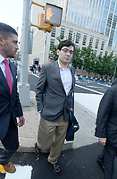 ***FILE PHOTO*** Martin Shkreli Sentenced To<br />  7 Years In Prison For Securities Fraud***<br /> NEW YORK, NY - AUGUST 3: Former Turing Pharmaceuticals CEO Martin Shkreli smiles as he exits the United States Federal courthouse after day four of deliberations in his federal securities fraud trial on August 3, 2017 in New York City. <br /> CAP/MPI01<br /> &copy;MPI01/Capital Pictures