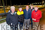 At the Kingdom Greyhound Stadium on Tuesday were Barry Porter, Jack Lehane, Stephan O'Carroll, Pat Bassil and Pat O'Connor