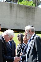 Roma, 3 Maggio 2017<br /> Il Presidente della Germania Frank-Walter Steinmeier saluta Riccardo Di Segni, rabbino capo della Comunit&agrave; ebraica di Roma, e rende omaggio alle vittime del massacro nazista alle Fosse Ardeatine