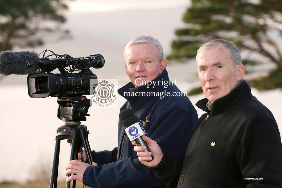 Christy Riordan of CR Video and Weeshie Fogarty who have completed a dvd on Kerry captains..Picture by Don MacMonagle