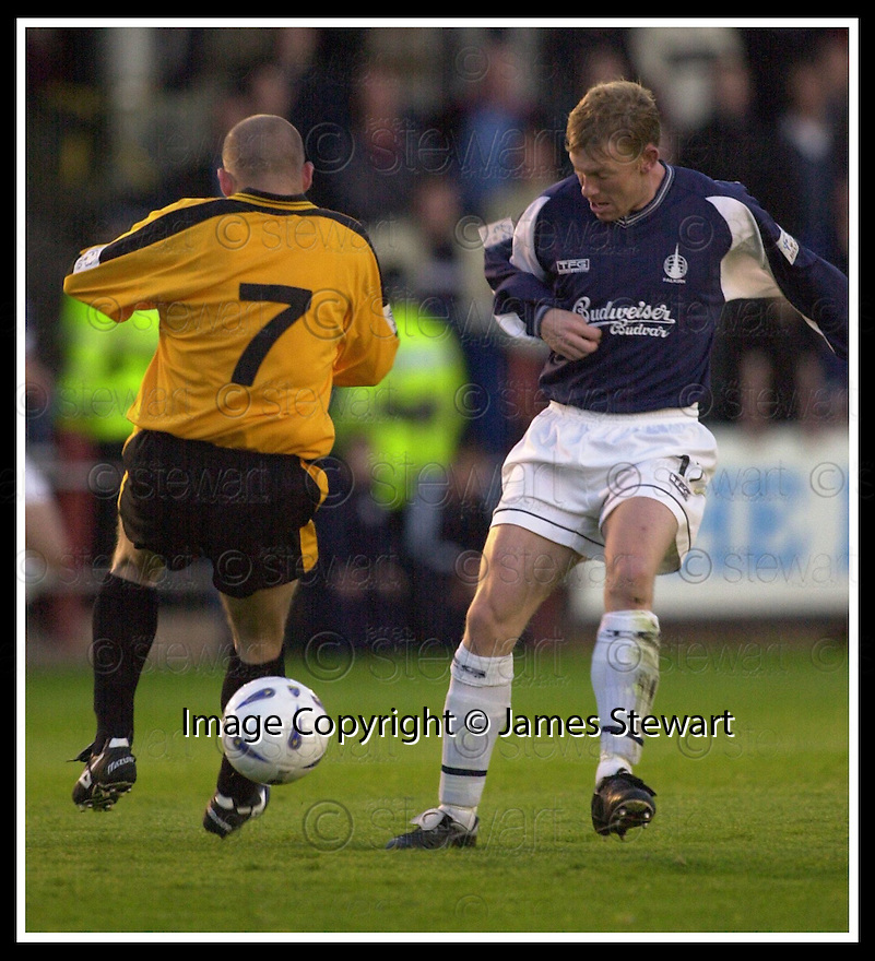 10/09/2002                   Copyright Pic : James Stewart.File Name : stewart-falkirk v peterhead 04.KEVIN TINDAL AND STEVE TOSH...Payments to :-.James Stewart Photo Agency, 19 Carronlea Drive, Falkirk. FK2 8DN      Vat Reg No. 607 6932 25.Office     : +44 (0)1324 570906     .Mobile  : +44 (0)7721 416997.Fax         :  +44 (0)1324 570906.E-mail  :  jim@jspa.co.uk.If you require further information then contact Jim Stewart on any of the numbers above.........
