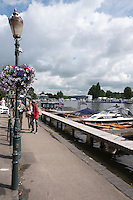 Henley on Thames. United Kingdom.  General Views, from the Oxfordshire bank.    Thursday,  30/06/2016,      2016 Henley Royal Regatta, Henley Reach.   [Mandatory Credit Peter Spurrier/ Intersport Images]