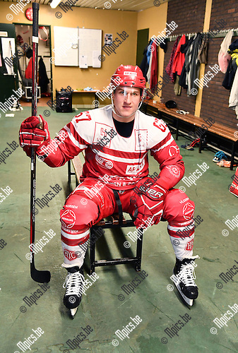 2017-02-01 / ijshockey / Seizoen 2016-2017 / HYC Herentals / Mitch Morgan<br /> <br /> ,Foto: Mpics.be