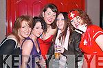 TOAST: Toasting the new year in JD's Bar, Ballybunion, were Catriona Maddan, Ballydonoghue, Alice Jagoo, Dublin, Aisling O'Connor, Ballybunion, Jenny Cregan, Dublin and Lauren Hanrahan, Ballylongford.   Copyright Kerry's Eye 2008