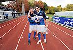 2015-10-25 / Voetbal / Seizoen 2015-2016 / FC Turnhout - KV Vosselaar / Niels Van de Vel (l.) en Alan Ven scoorden respectievelijk de 2-1 en de 3-1 voor FC Turnhout.<br /><br />Foto: Mpics.be