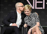 PASADENA, CA - FEBRUARY 4: (L-R) EP/Cast Member Sam Rockwell and EP/Cast Member Michelle Williams during the FOSSE / VERDON panel for the 2019 FX Networks Television Critics Association Winter Press Tour at The Langham Huntington Hotel on February 4, 2019 in Pasadena, California. (Photo by Frank Micelotta/FX/PictureGroup)