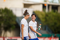Seattle, Washington - Saturday, July 2nd, 2016: Seattle Reign FC midfielder Keelin Winters (11) prior to a regular season National Women's Soccer League (NWSL) match between the Seattle Reign FC and the Boston Breakers at Memorial Stadium. Seattle won 2-0.