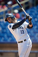 Lake County Captains Martin Cervenka (13) at bat during a game against the South Bend Cubs on July 27, 2016 at Classic Park in Eastlake, Ohio.  Lake County defeated South Bend 5-4.  (Mike Janes/Four Seam Images)