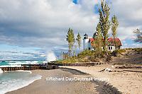 64795-00810 Point Betsie Lighthouse on Lake Michigan, Benzie County, Frankfort, MI