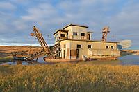 Swanberg's dredge, a 1920's era gold dredge, Nome, Seward Peninsula, western Arctic, Alaska.