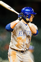 Brian Adams #16 of the Kentucky Wildcats at bat against the Rice Owls at Minute Maid Park on March 4, 2011 in Houston, Texas.  Photo by Brian Westerholt / Four Seam Images