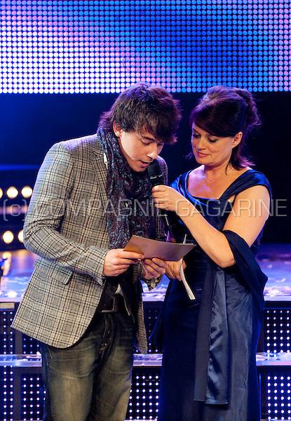 Dean Delannoit and Christel Van Dijck at the Vlaamse Musicalprijzen ceremony (Belgium, 28/09/2010)