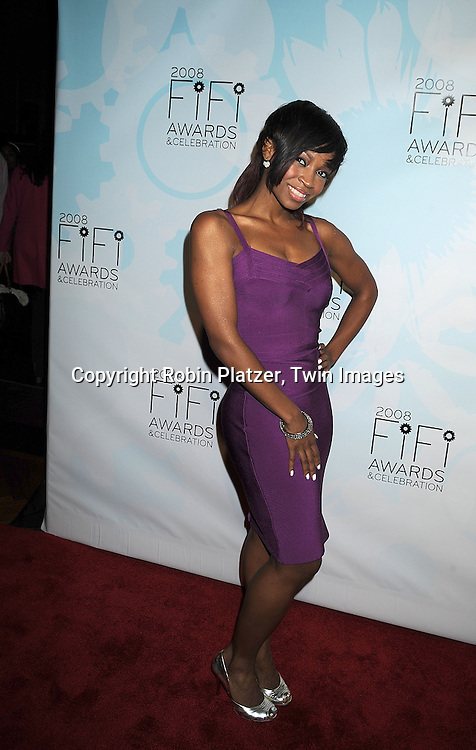 D Woods of Danity Kane..posing for photographers at The 36th Annual Fifi Awards..Show on May 20, 2008 at The Park Avenue Armory at 67th Street in New York City. This was presented by The Fragrance Foundation.....Robin Platzer, Twin Images